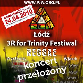 Koncert Reggae for Trinity przełożony