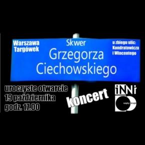 Skwer Grzegorza Ciechowskiego na warszawskim Targówku. Koncert!