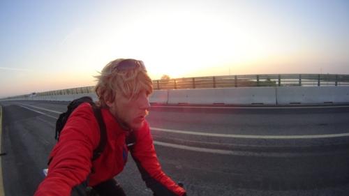 ...a Marcin przez 1400 km podążał samemu... Hiszpania