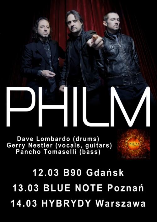 Philm zagra trzy koncerty!