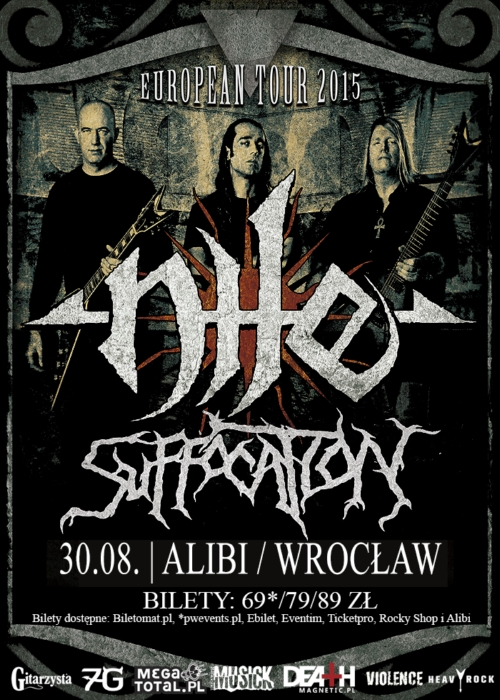 Nile & Suffocation we Wrocławiu.