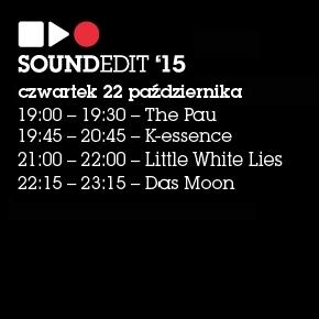 Soundedit 2015: czwartkowe koncerty!