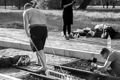 Na planie klipu Suicide. Foto: Ryszard Czop