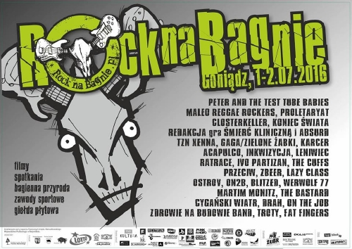 Rock na Bagnie 2016. Line up.