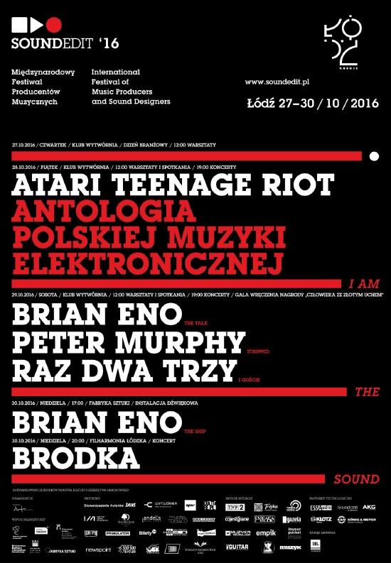 Plakat festiwalu Soundedit 2016
